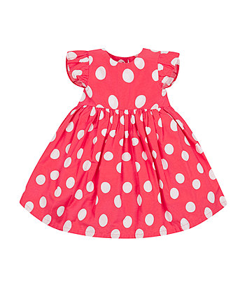 Mothercare Red Spotty Dress