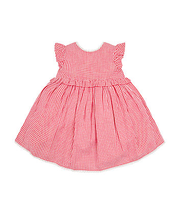 Mothercare Red Gingham Dress