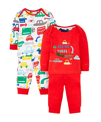 are we there yet pyjamas - 2 pack
