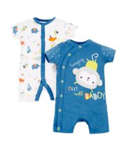 Mothercare Animal Mummy And Daddy Rompers - 2 Pack