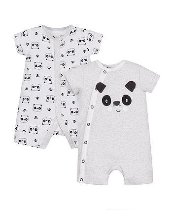 Mothercare Panda Rompers - 2 Pack