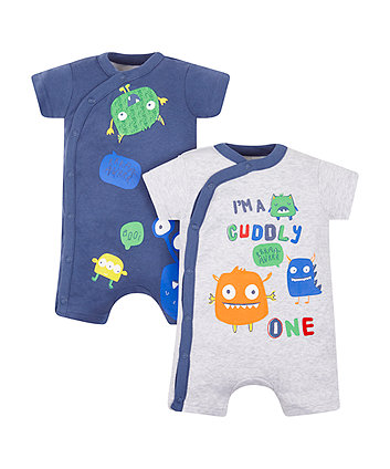 monster rompers - 2 pack