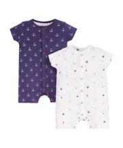 Under The Sea Rompers - 2 Pack