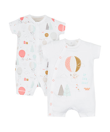 Mothercare Up And Away Rompers - 2 Pack