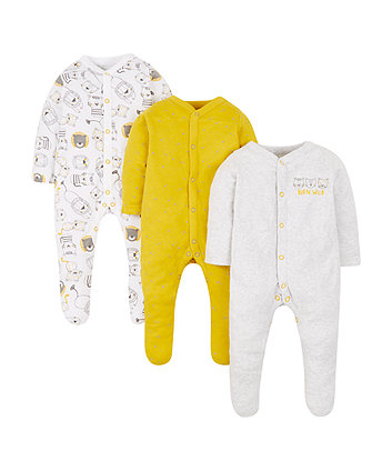wild ones sleepsuits - 3 pack