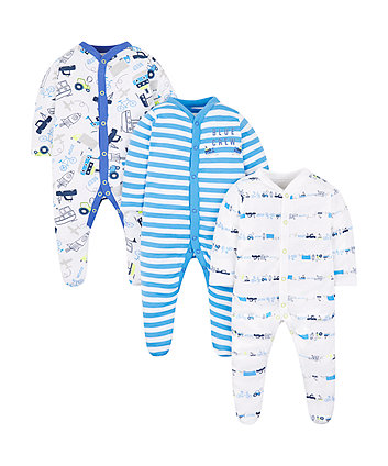 Blue Crew Sleepsuits - 3 Pack