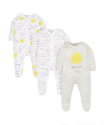 Sunshine Sleepsuits - 3 Pack