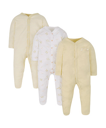 Little Duck Sleepsuits - 3 Pack