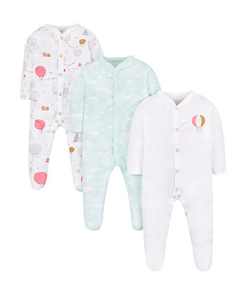 up and away sleepsuits - 3 pack