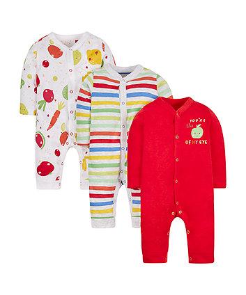 Fruit Sleepsuits - 3 Pack