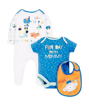 Mothercare Animal Mummy And Daddy 3-Piece Set