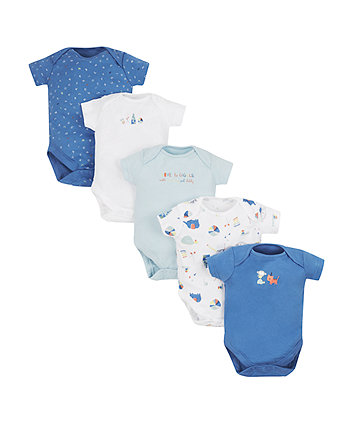 Mothercare Love To Giggle Bodysuits - 5 Pack