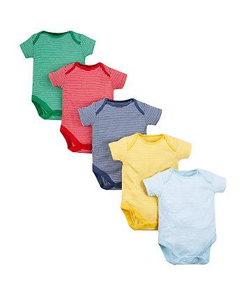 Stripe Bodysuits - 5 Pack
