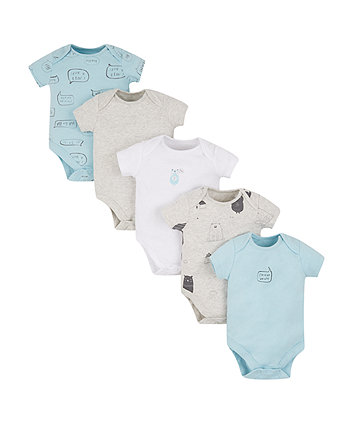 Mothercare Bear Bodysuits - 5 Pack
