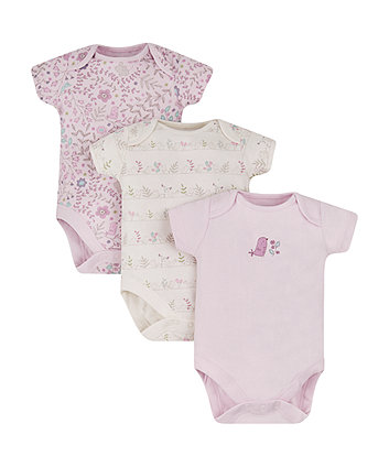 Mothercare Squeak And Tweet Bodysuits - 3 Pack