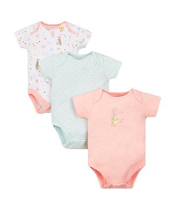 Mothercare Little Garden Bodysuits - 3 Pack