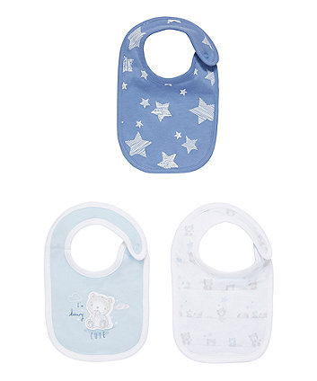 Mothercare My First Bear Bibs - 3 Pack