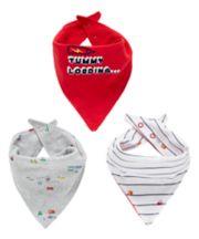 Tummy Loading Bandana Bibs - 3 Pack