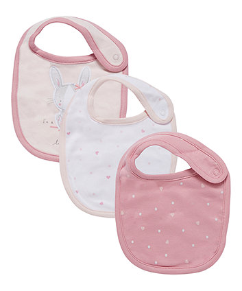 Mothercare My First Bunny Bibs - 3 Pack