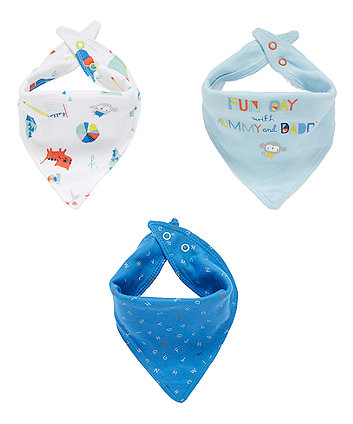Mothercare Fun Day Bandana Bibs - 3 Pack