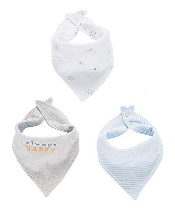 Mothercare Little Explorer Bandana Bibs - 3 Pack