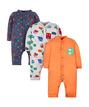 Monster Sleepsuits - 3 Pack