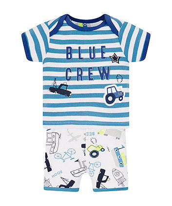 Blue Crew Shortie Pyjamas