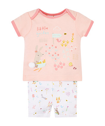 Little Garden Shortie Pyjamas