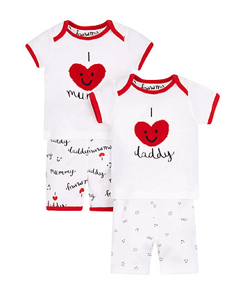 Mummy And Daddy Shortie Pyjamas