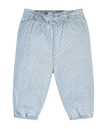Mothercare Light Wash Spotty Jeans