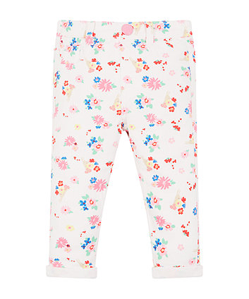 Mothercare White Floral Jeans