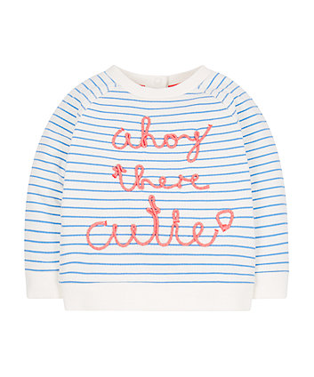 Mothercare Striped Sailor Sweat Top