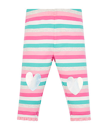 Stripe Heart Leggings