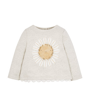 Sunflower Lace Sweat Top