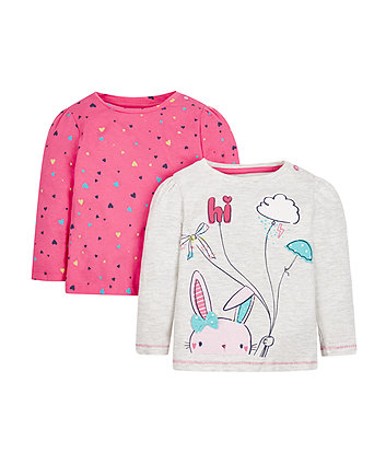 Bunny And Heart Tops - 2 Pack