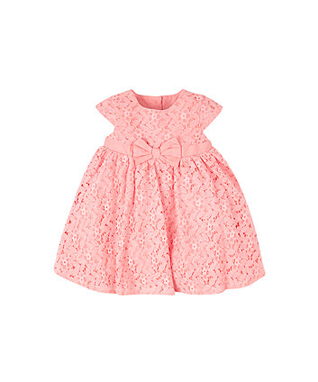 Mothercare Pink Lace Prom Dress