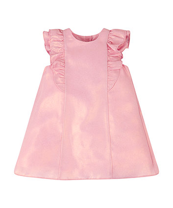 Mothercare Pink Frill Sleeved Dress