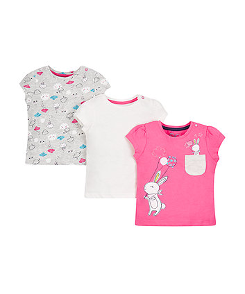 Mothercare Little Bunny T-Shirts - 3 Pack