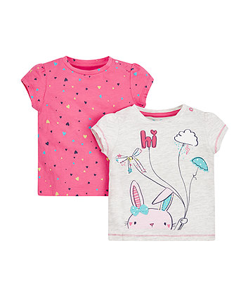 Mothercare Bunny And Heart Tops - 2 Pack