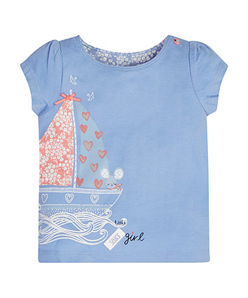 Mothercare Blue Boat T-Shirt