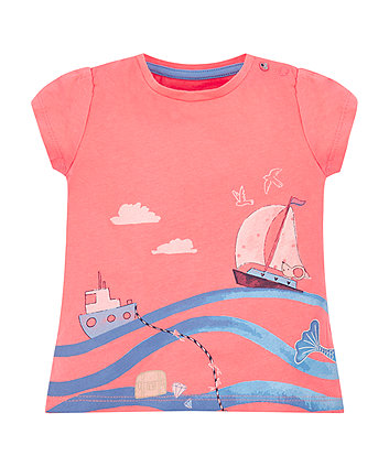 Mothercare Coral Seaside T-Shirt
