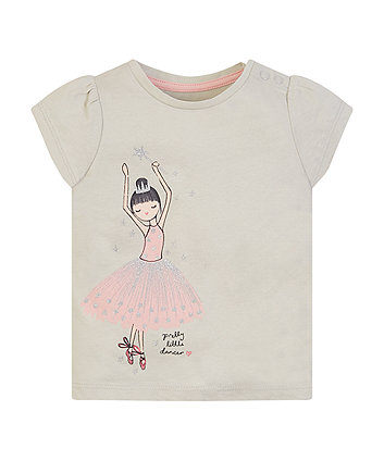Grey Ballerina T-Shirt