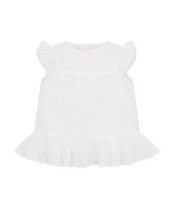 Mothercare White Dobby Blouse