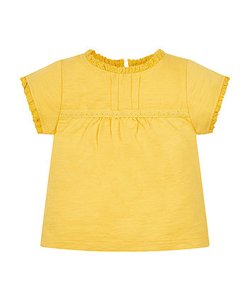 Mothercare Yellow Crochet T-Shirt