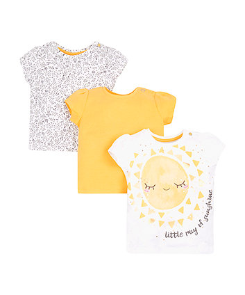 Mothercare Ray Of Sunshine T-Shirts - 3 Pack
