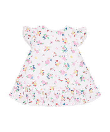 Mothercare Floral Frilly Blouse