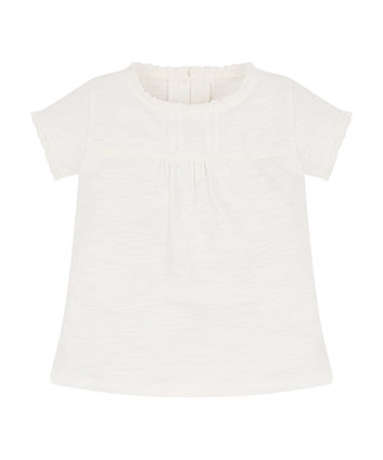 Mothercare White Crochet T-Shirt