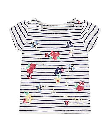 Striped Flower T-Shirt