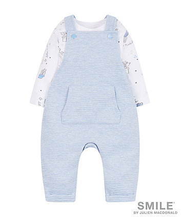 SMILE by Julien Macdonald Ripple Dungarees And Bodysuit Set