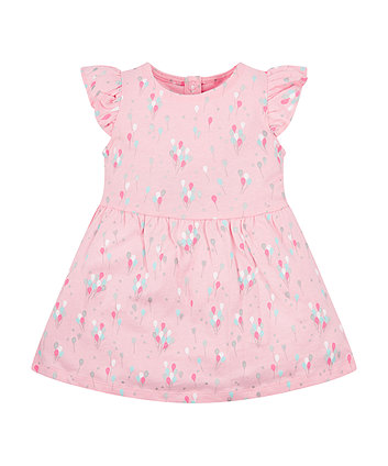 Mothercare Pink Balloon Jersey Dress